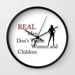 Real Men Don't Traffic Wall Clock