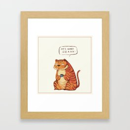Mr Tiger Framed Art Print