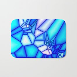 Glowing blue Bath Mat