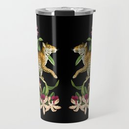 Leopard black Travel Mug