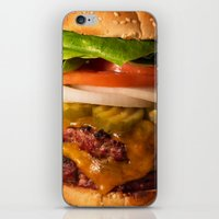 burger iPhone & iPod Skins featuring Burger by Jason Morrow