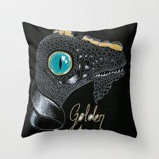 Golden Horn Throw Pillow
