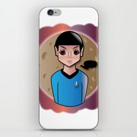 spock iPhone & iPod Skins featuring Spock by hannahroset