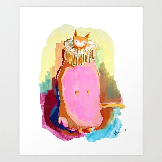 Cat in a Ruff Art Print