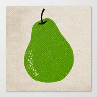 pear Canvas Prints featuring Pear by Roland Lefox