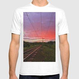 Northern sunset at white night T-shirt
