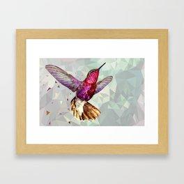 Jeweled Hummingbird Framed Art Print