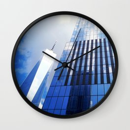 Skyscrapers in the Clouds, One World Trade Center, New York City  Wall Clock