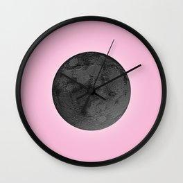 BLACK MOON + PINK SKY Wall Clock