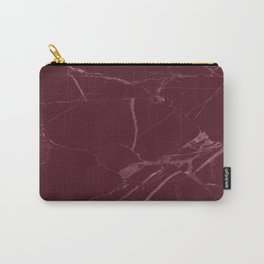 modern burgundy marble look Carry-All Pouch