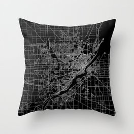 Toledo map ohio Throw Pillow