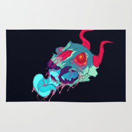 pink skull goop Rug