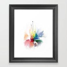 Beautiful abstract flower Framed Art Print