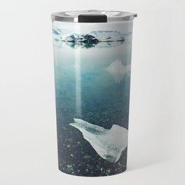 Glacial Floating in Iceland Travel Mug