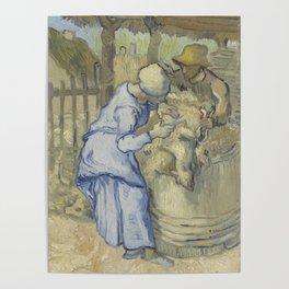 The Sheepshearer (after Millet) Poster