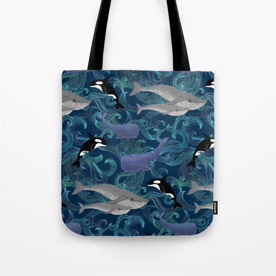 Beautiful Ocean Giants - teal Tote Bag