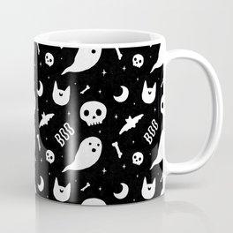 Halloween Pattern Black & White Coffee Mug