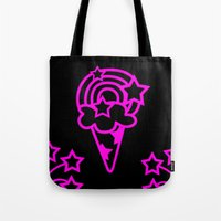 icecream Tote Bags featuring Icecream by Littlefox