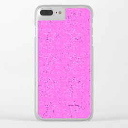 Stars Gradient Pink Black White Clear iPhone Case