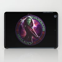 guardians of the galaxy iPad Cases featuring Gamora - Guardians Of The Galaxy by Leamartes
