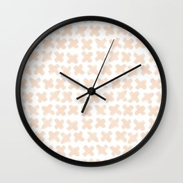Blush Crosses Wall Clock