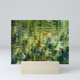 Reflections in a Rippling Pond Mini Art Print