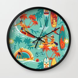 Hawaiian resort Wall Clock