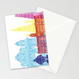 Chennai skyline pop Stationery Cards