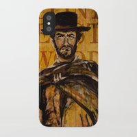clint eastwood iPhone & iPod Cases featuring Clint Eastwood by Olga Ko