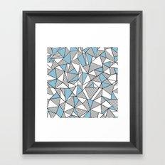 Abstraction Lines Sky Blue Framed Art Print