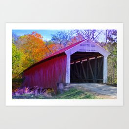 McAllister's Covered Bridge ~ Rockville, Indiana Art Print
