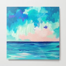 Abstract Seascape X Metal Print