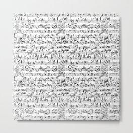 Hand Written Sheet Music Metal Print