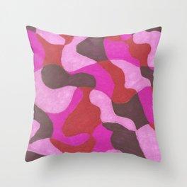 composición en rosa Throw Pillow