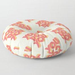 You Do You Block Type Floor Pillow