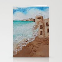 cuba Stationery Cards featuring Cuba Beach by Karelle Renaud