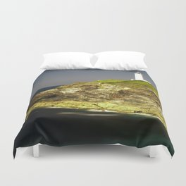 Trevose Head Lighthouse, Cornwall, United Kingdom Duvet Cover