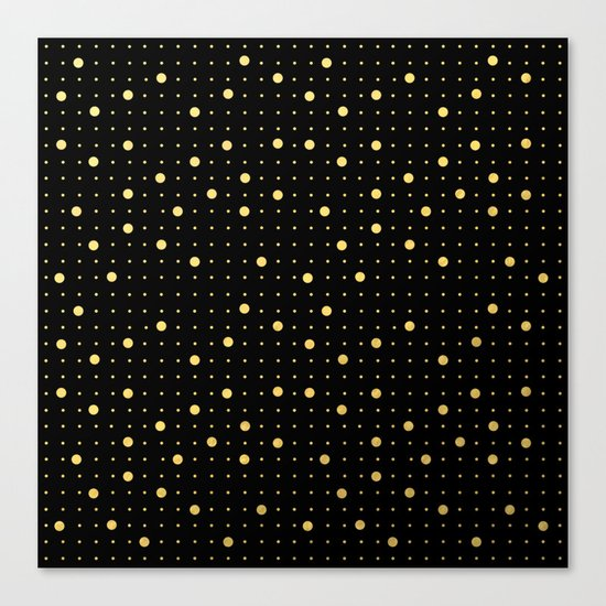 Pin Points Gold Canvas Print