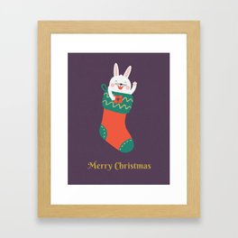Day 15/25 Advent - Merry Christmas Human! Framed Art Print