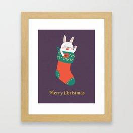 Merry Christmas Human! Framed Art Print