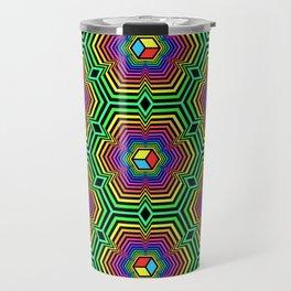 """""""Hexacube"""", by Brock Springstead Travel Mug"""
