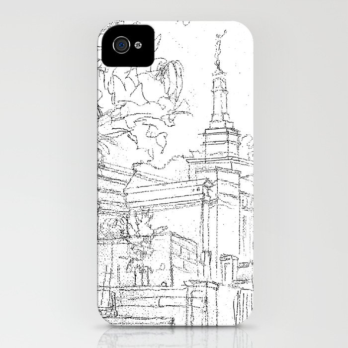 Melbourne Au Lds Temple Sketch Iphone Case By Bekablo