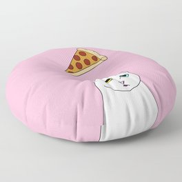 Fat D. Loves Pizza Floor Pillow