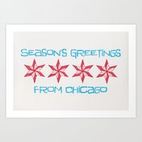 season's greetings from chicago Art Print