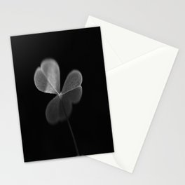 Oxalis in black and white Stationery Cards
