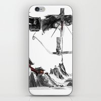 lara croft iPhone & iPod Skins featuring Lara Croft: Dimensional Shift  by Sean Thomas McDowell