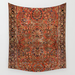 Persia Sarouk 19th Century Authentic Colorful Red Yellow Leaf Vintage Patterns Wall Tapestry