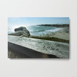 Love is All You Need and the Beach Metal Print