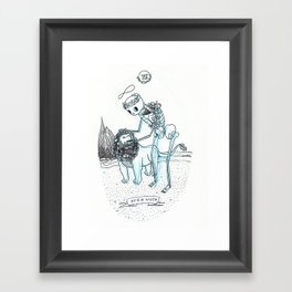 Strength Skeleton Tarot Framed Art Print