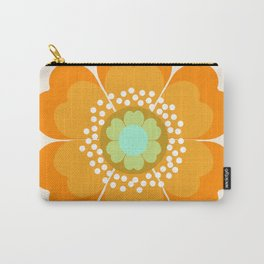 Jivin' - 70's retro throwback art floral flower motif decor hipster Carry-All Pouch